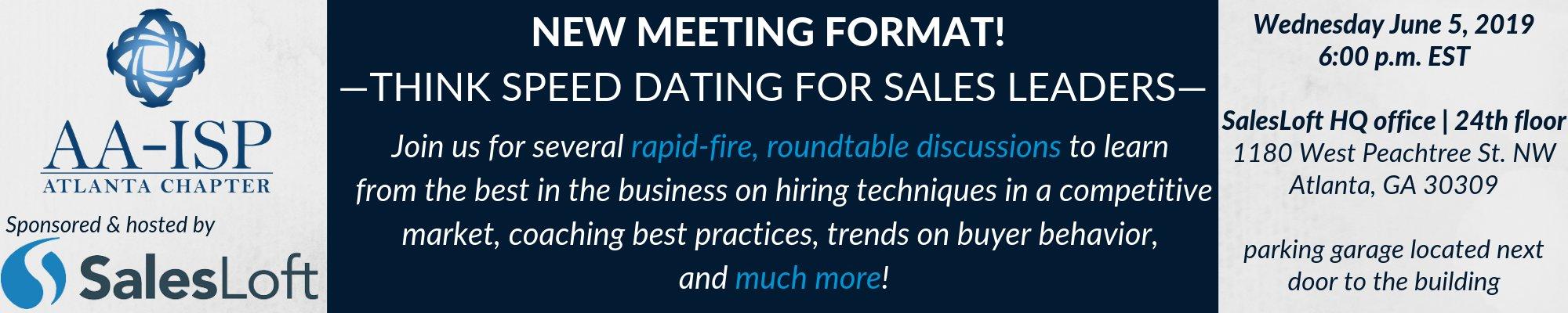 Geschwindigkeit Dating Meetingformat